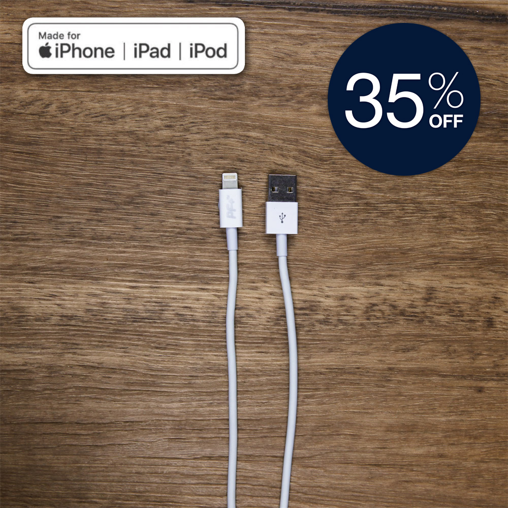 PowerFlo+ MFI iPhone to USB Cable | 1 Metre